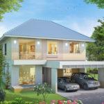 Casa cu etaj si arhitectura simpla
