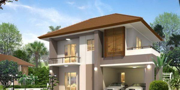 Casa cu etaj si garaj dublu