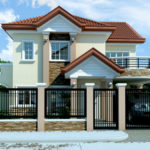 Casa cu fronton si etaj