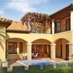 Casa cu garaj in stil mediteranean