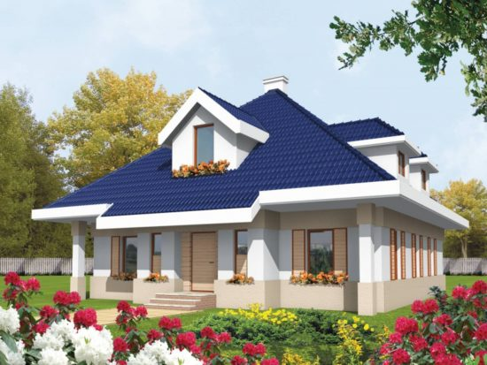 Casa cu mansarda fara garaj