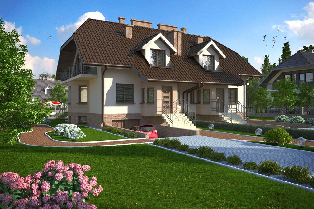 Casa cu mansarda si acoperis inalt