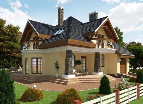 Casa cu mansarda si doua lucarne
