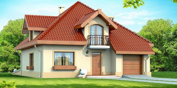 Casa cu mansarda si garaj