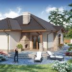 Casa cu semineu pe terasa
