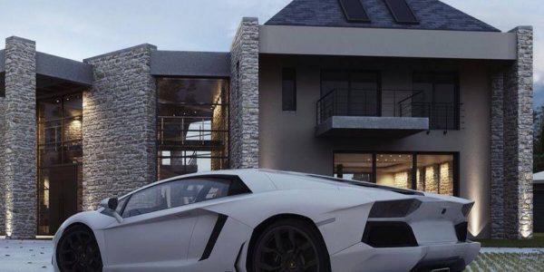Casa de lux cu geamuri mari
