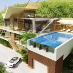 Casa de lux cu piscina de sticla