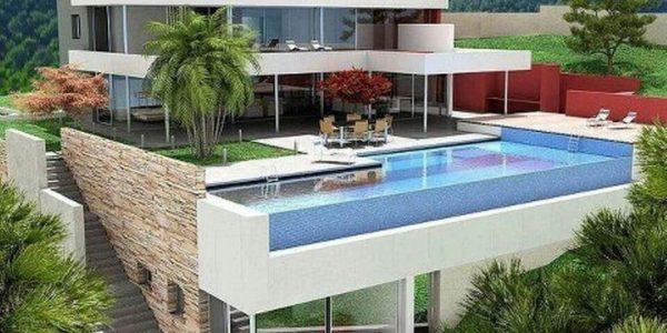 Casa de lux cu piscina la inaltime