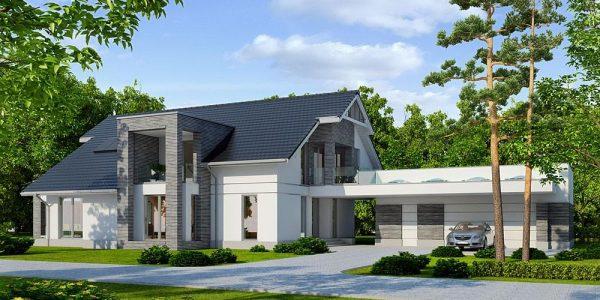 Casa de lux cu terasa pe garaj