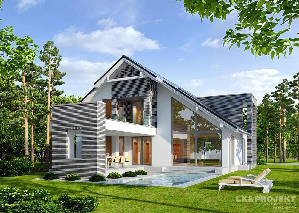 Casa de lux cu terase la mansarda