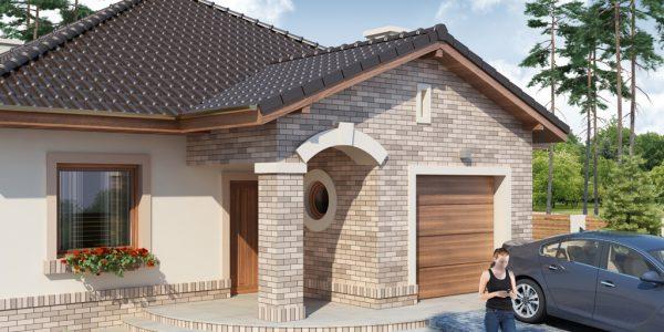 Casa decorata cu caramida