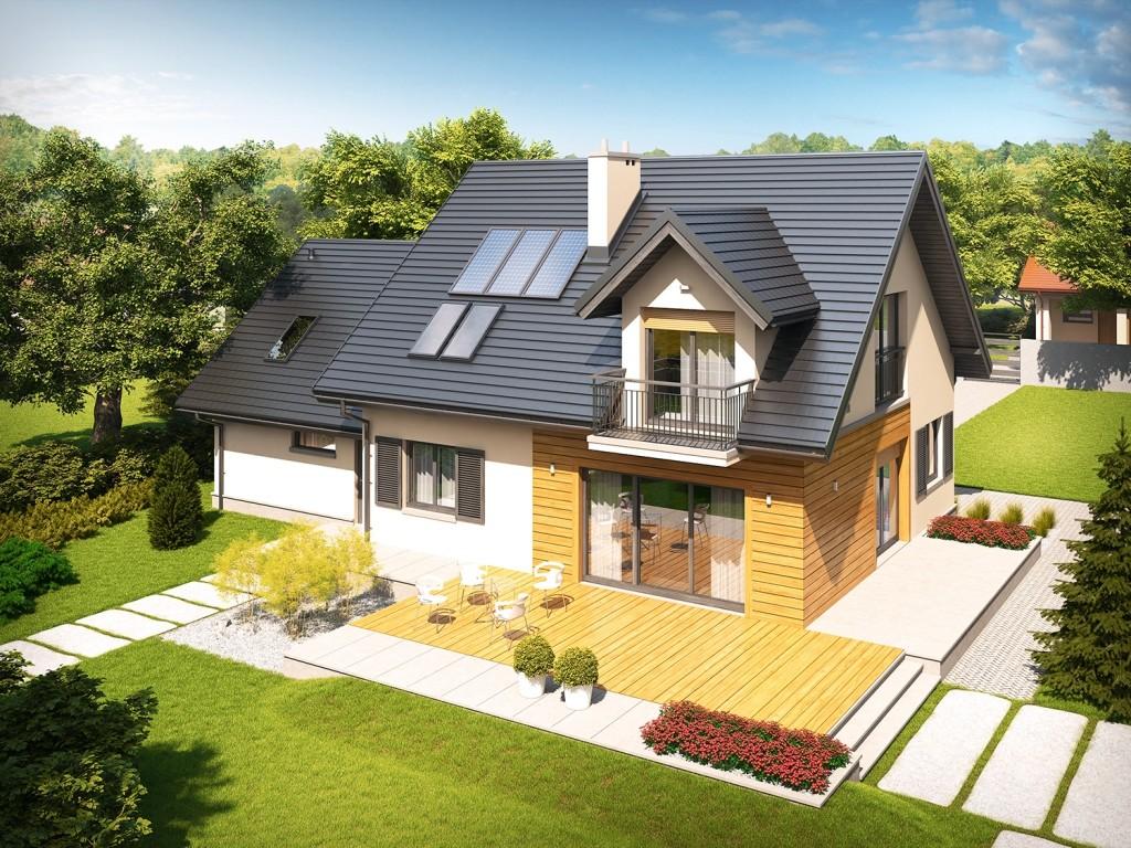Casa frumoasa cu mansarda si garaj dublu
