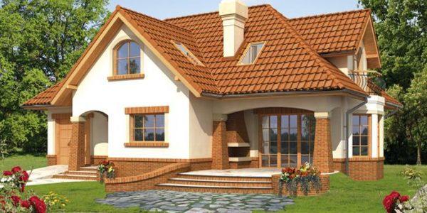 Casa mica cu mansarda si garaj