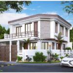 Casa moderna cu acoperis plat