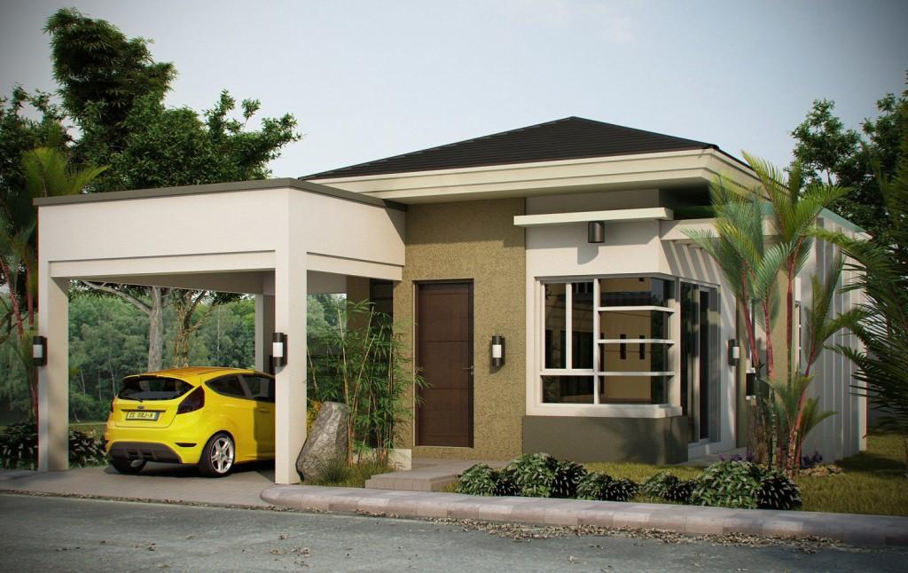 Casa moderna mica cu garaj