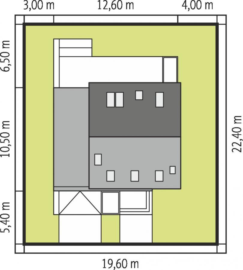 Dimensiuni teren casa cu 3 dormitoare si garaj