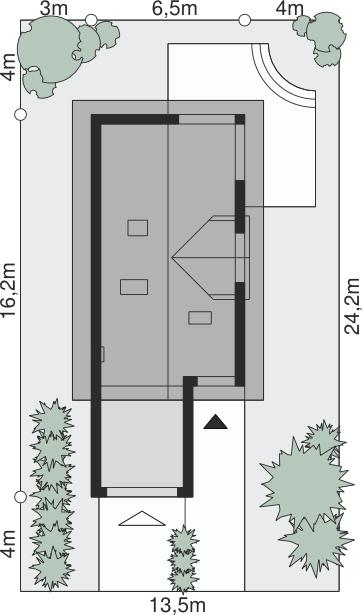 Dimensiuni teren casa cu terasa la mansarda