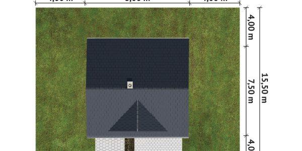 Dimensiuni teren casa de vacanta cu o camera