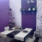 Dining cu design violet