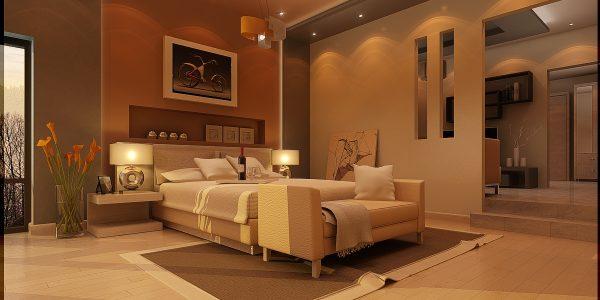 Dormitor de lux cu scafa in tavan