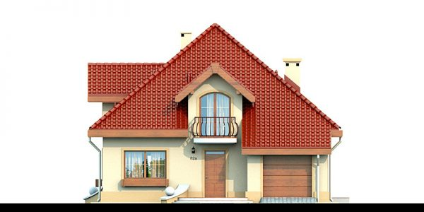 Elevatie casa cu 4 dormitoare si garaj