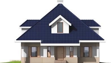 Elevatie casa cu mansarda