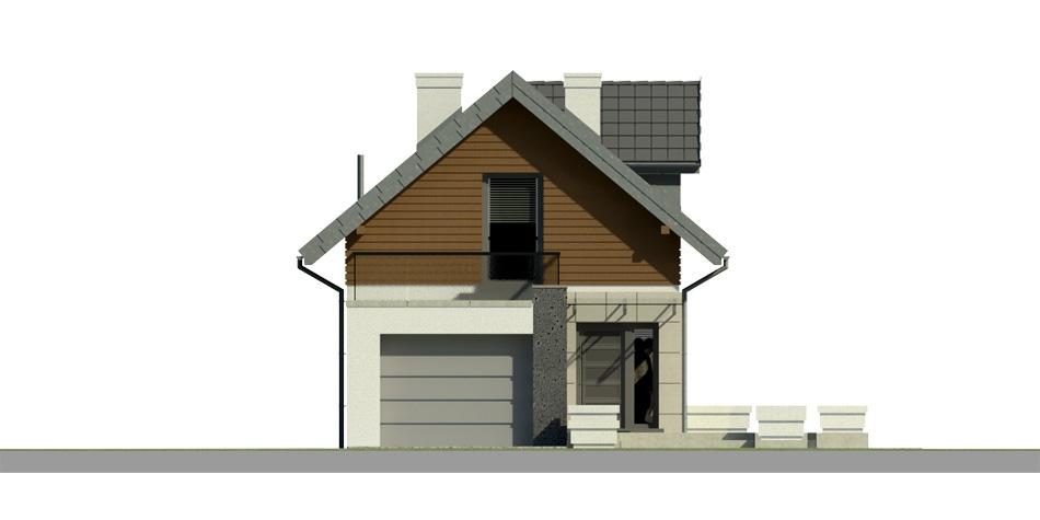 Elevatie casa cu terasa la mansarda