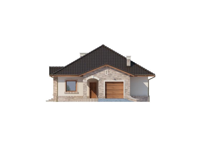 Elevatie casa eleganta cu garaj