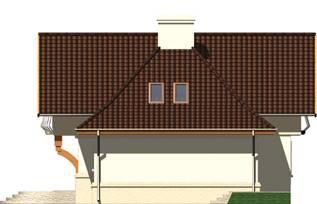 Elevatie dreapta casa cu 2 lucarne