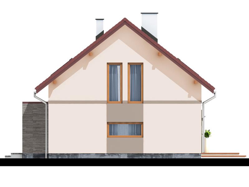 Elevatie dreapta casa cu mansarda