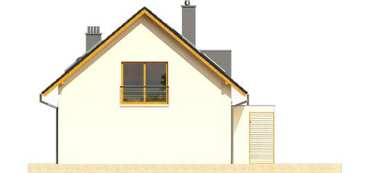Elevatie dreapta casa cu terasa la mansarda