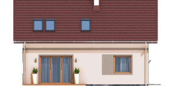 Elevatie spate casa cu mansarda