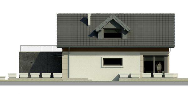 Elevatie stanga casa cu terasa la mansarda