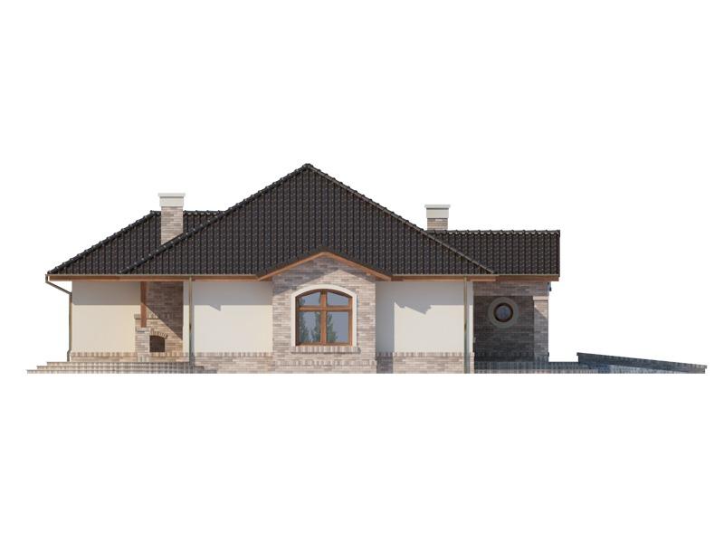 Elevatie stanga casa eleganta cu garaj