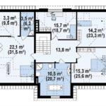 Plan etaj duplex cu mansarda