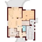 Plan parter casa cu 4 dormitoare si garaj