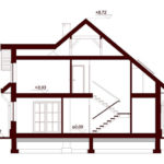Plan vertical casa cu 4 dormitoare si garaj