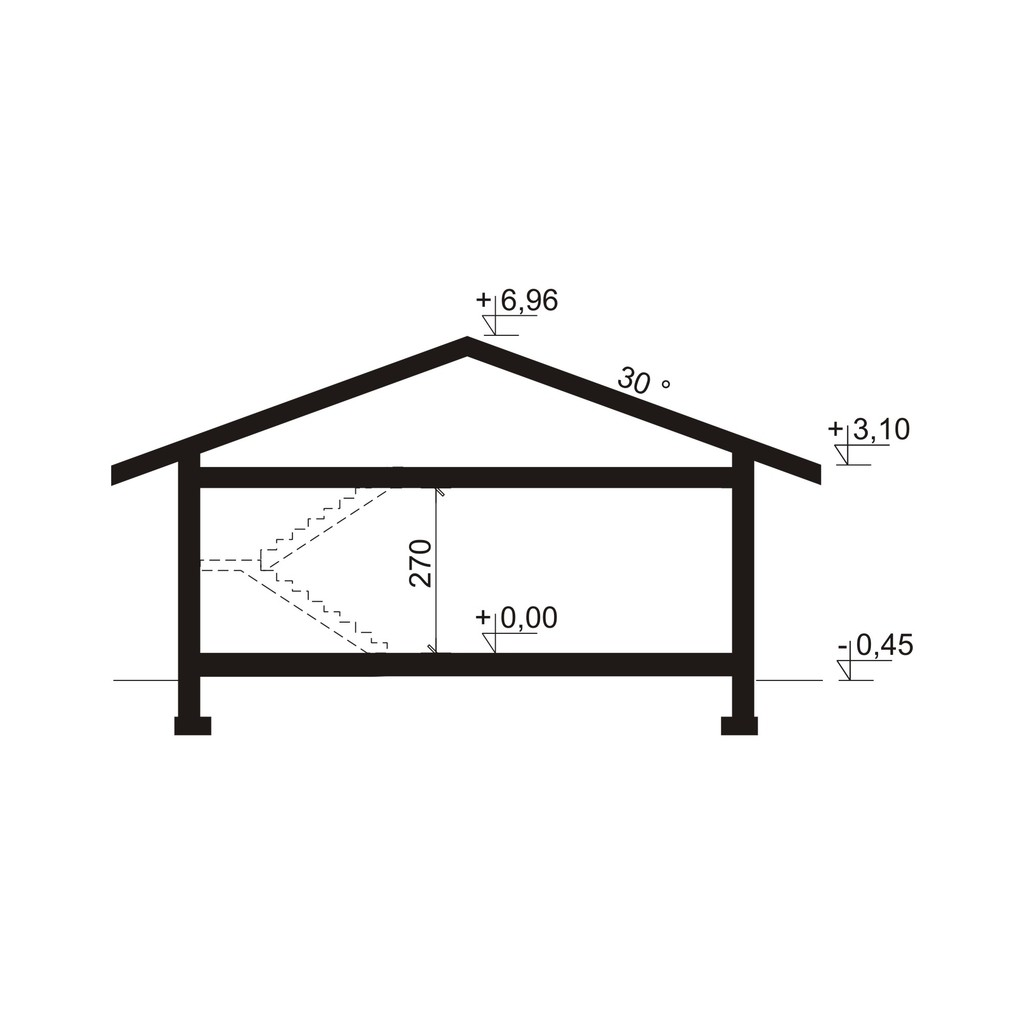 Plan vertical casa eleganta cu garaj