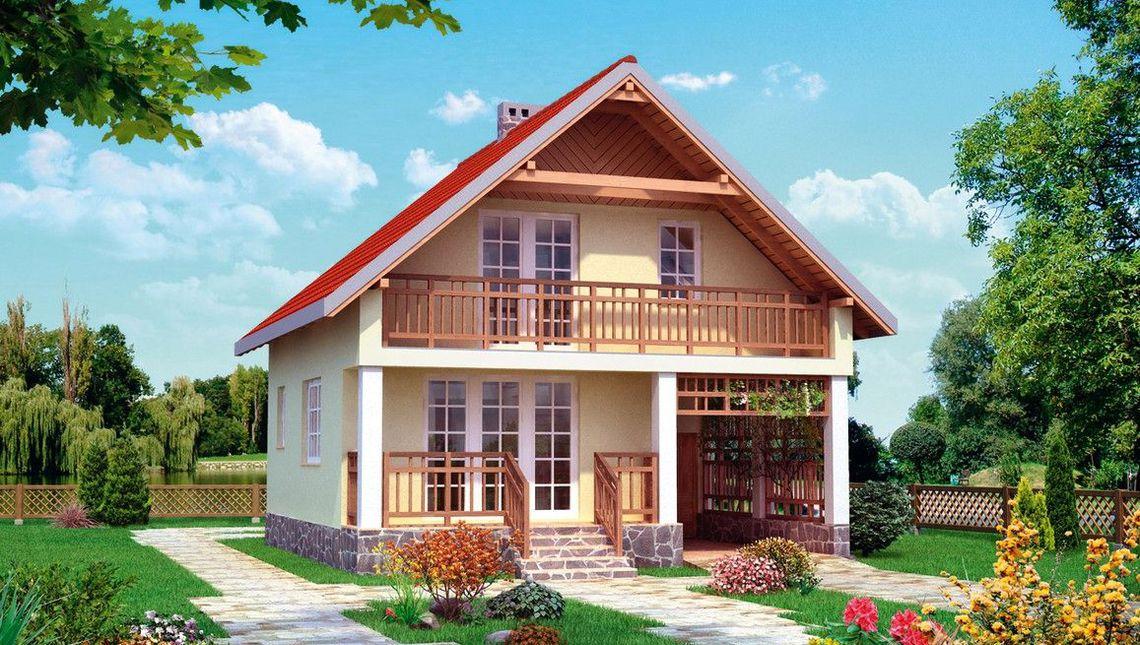 Casa cu 2 dormitoare la mansarda