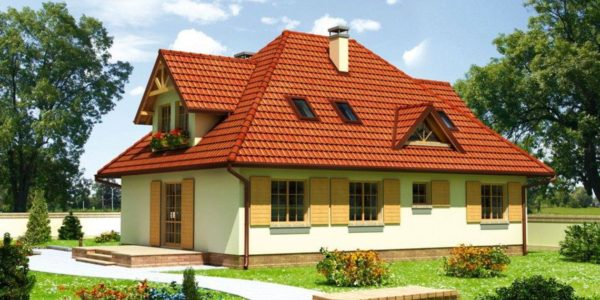 Casa cu garaj si mansarda