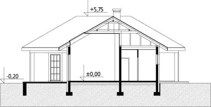 Plan vertical casa cu 3 dormitoare