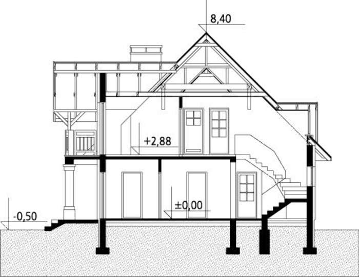 Plan vertical casa cu 5 dormitoare