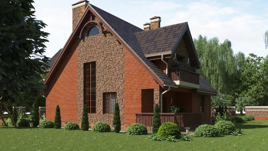 Casa cu 3 dormitoare la mansarda