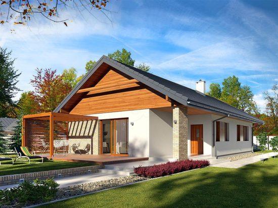 Casa cu 3 dormitoare pe un singur nivel