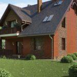 Casa cu acoperis inalt