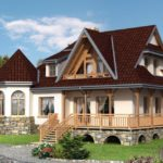Casa cu demisol si veranda