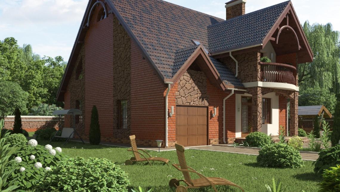 Casa cu doua balcoane