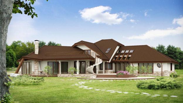 Casa cu salon de mari dimensiuni