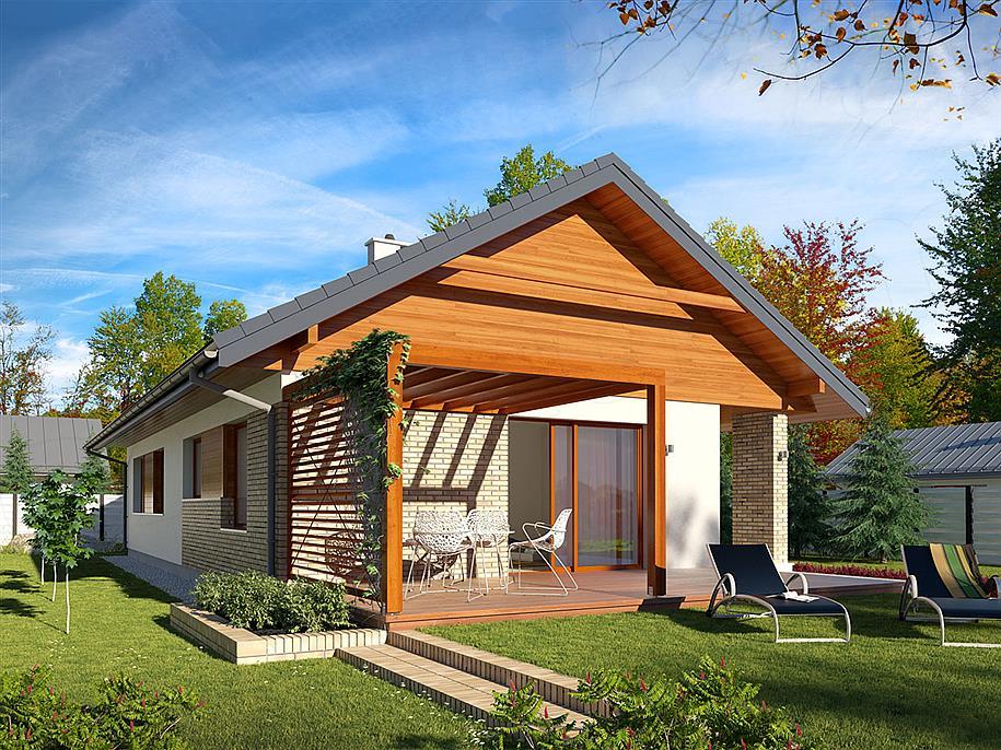 Casa cu terasa in fata