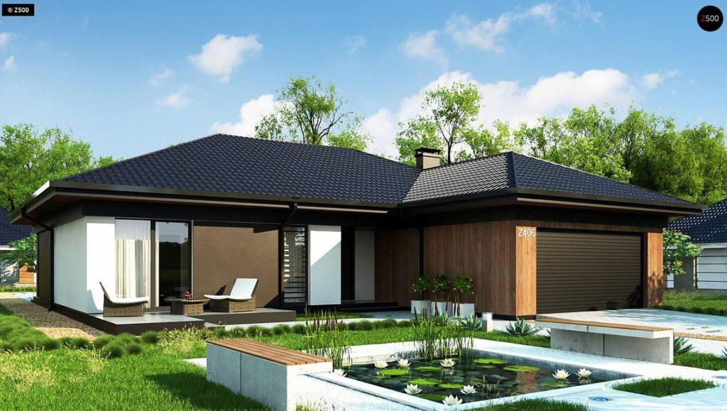 Proiect de casa moderna pe un singur nivel for Casa moderna romania